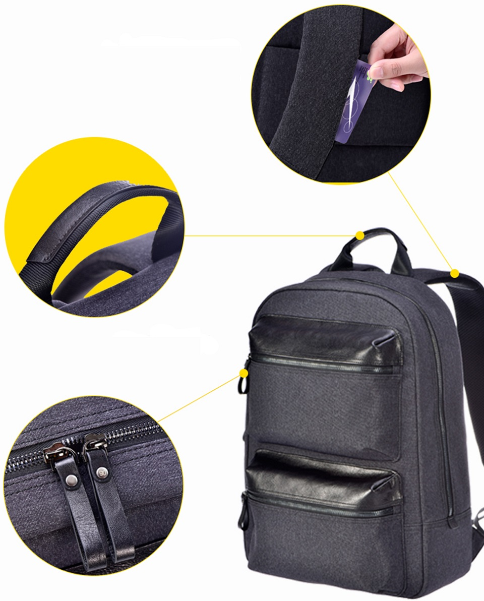 Рюкзак RunMi 90 Points Business Multi-function Backpack отделения