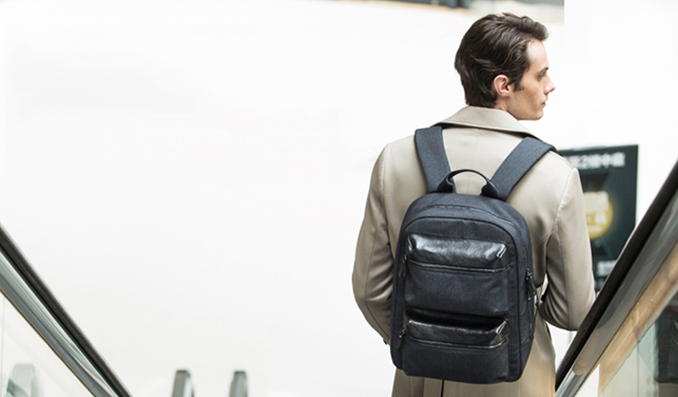 Рюкзак RunMi 90 Points Business Multi-function Backpack вид сзади