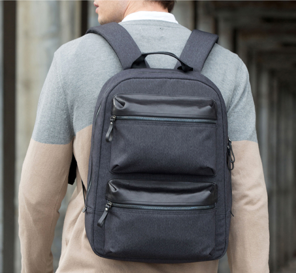 Рюкзак RunMi 90 Points Business Multi-function Backpack вид со спины