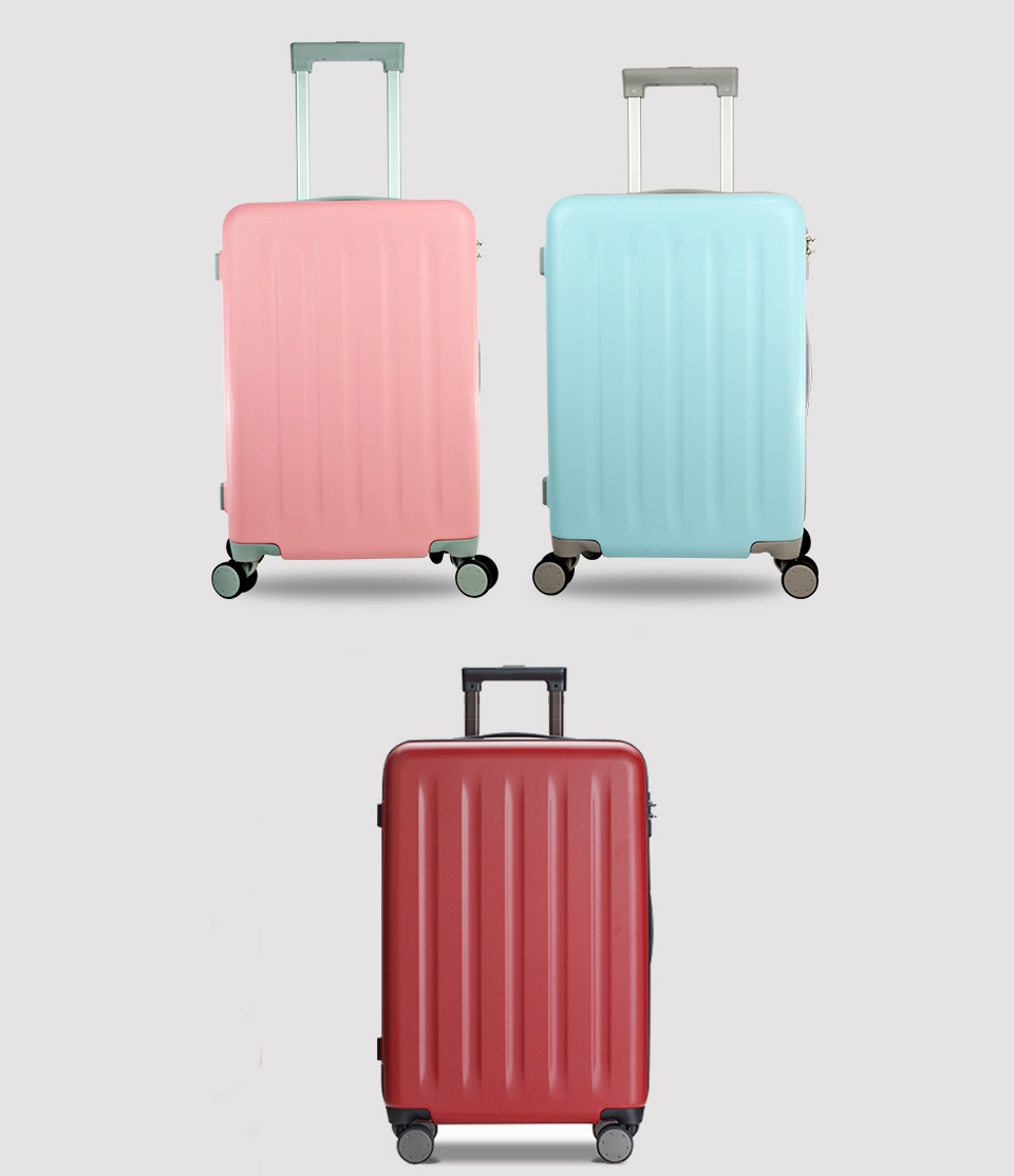 "Чемодан RunMi 90 Points suitcase Maсaron Green 20"" в 3-х цветах"