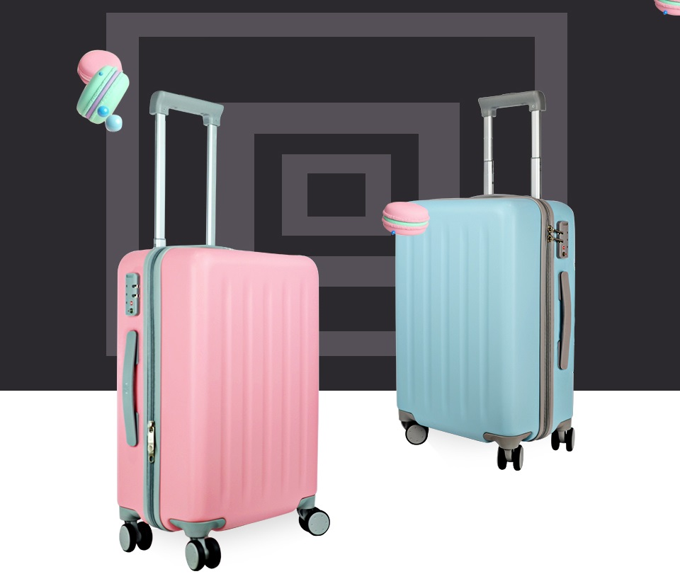 "Чемодан RunMi 90 Points suitcase Maсaron Green 20"" в двух цветах"