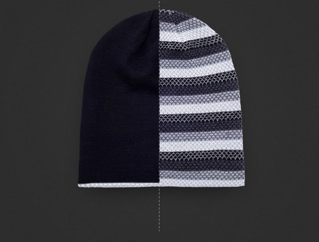 RunMi 90GOFUN Striped Double Knit Hat два цвета