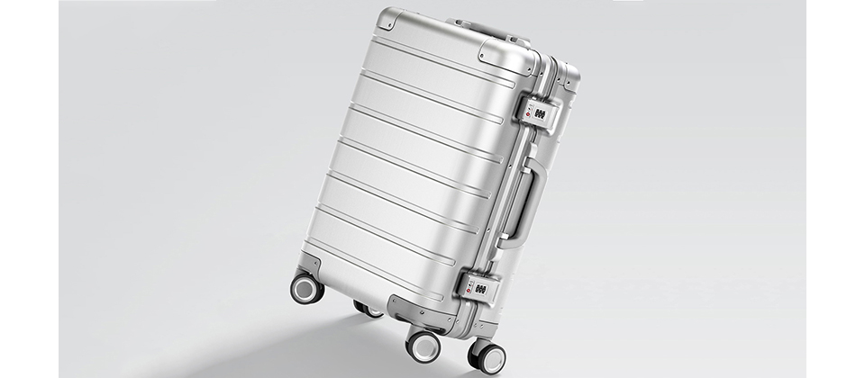Чемодан RunMi 90 Points Metal Suitcase Business Travel Silver 20