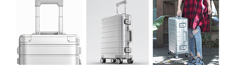 Чемодан RunMi 90 Points Metal Suitcase Business Travel Silver 20 ручки