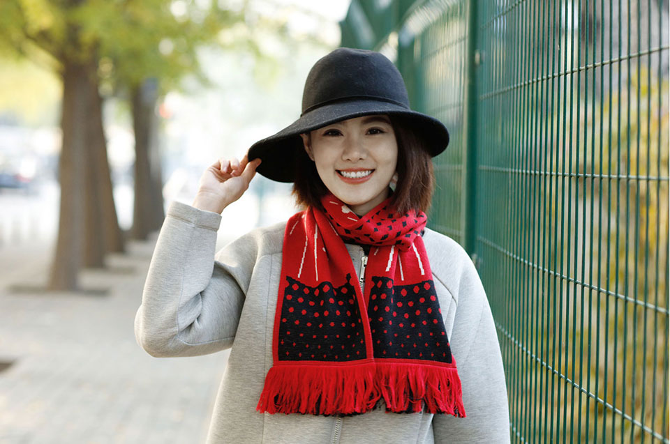 Mi Scarf Black/Red стильный