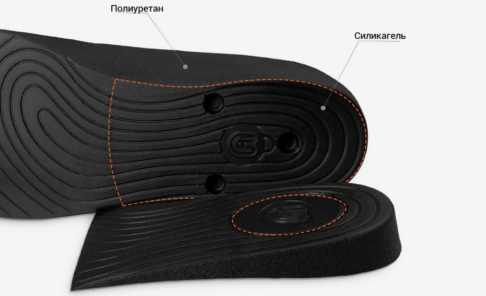 Cтельки Senthmetic With increased height insole PU18ZG001 материалы