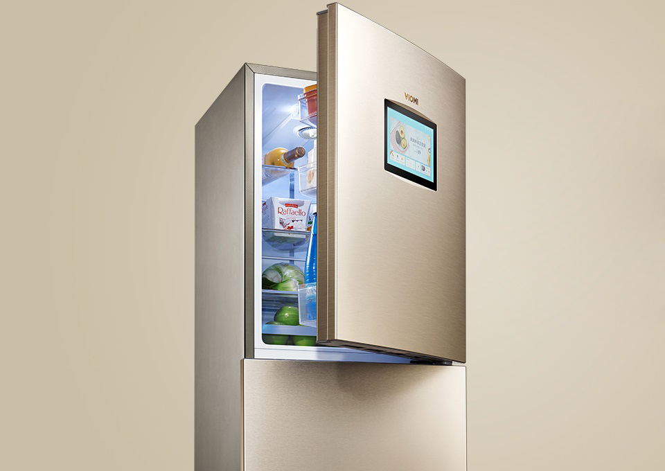 Viomi Smart Refrigerator iLive Voice Edition с открытой дверкой