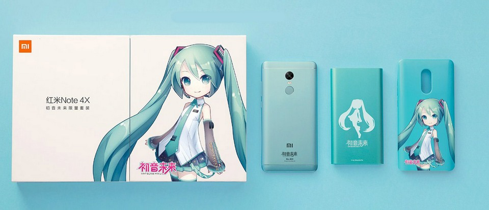 Xiaomi Redmi Note 4х Hatsune Miku set for funs
