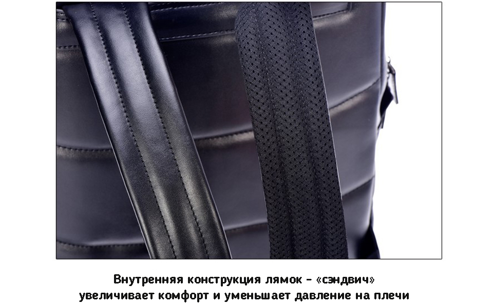 Рюкзак  Xiaomi 90 Points Business Backpack Black стиль