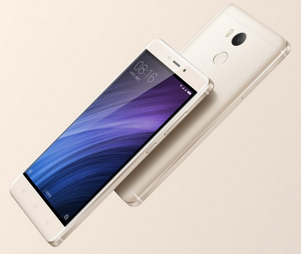 Смартфон Xiaomi Redmi 4 Dark Gray 3/32 Gb вид сбоку