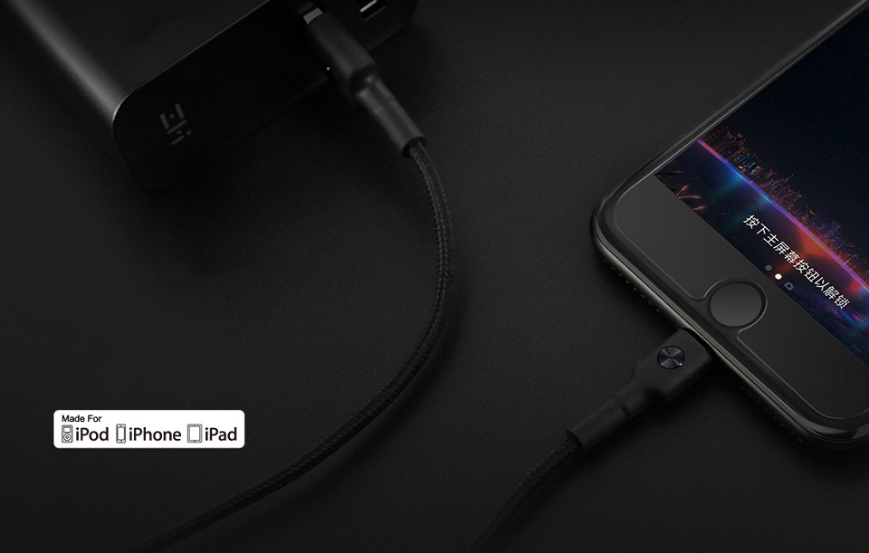 Кабель ZMi AL803 Apple Kevlar Data cable/Micro USB Kevlar зарядка Apple устройств
