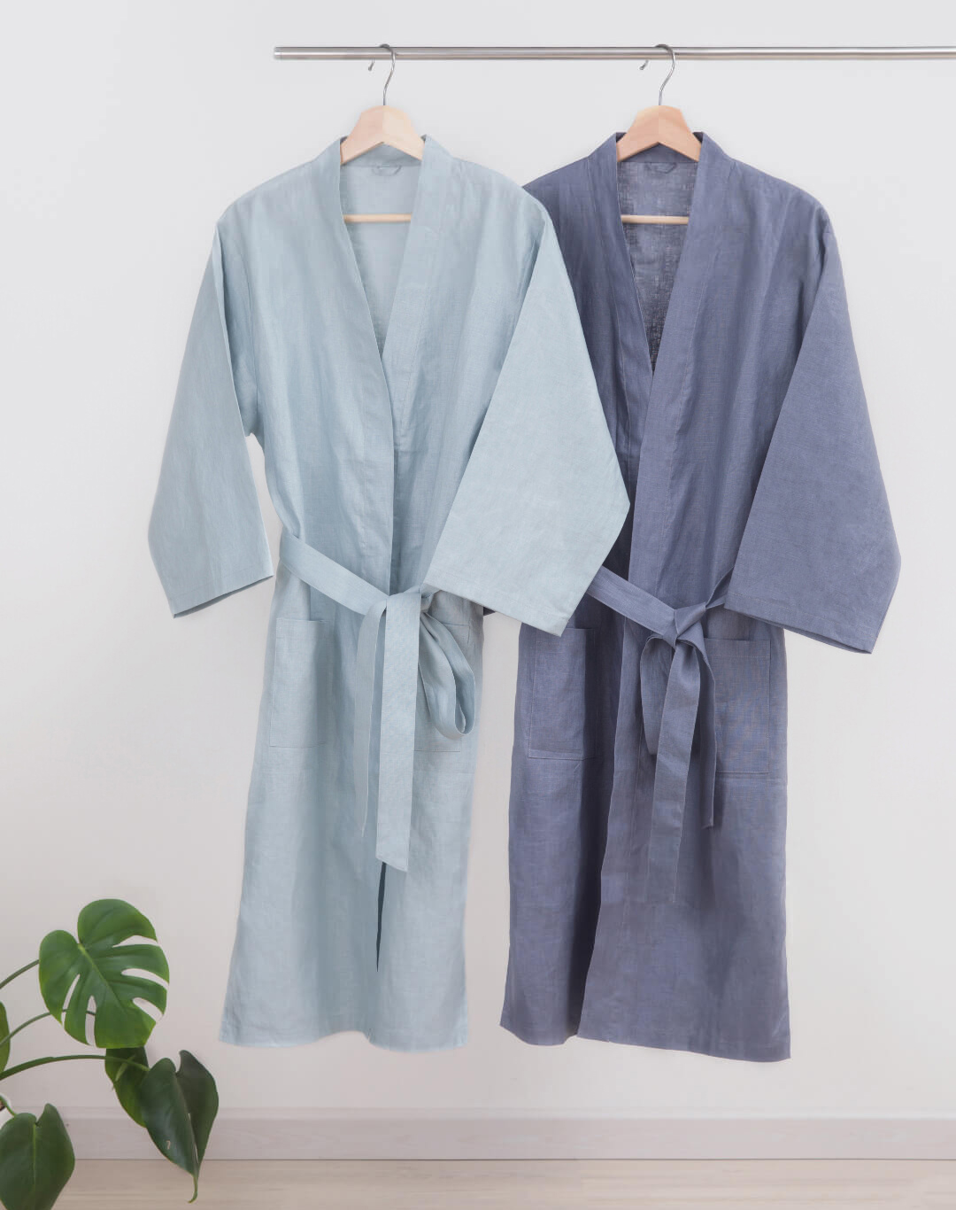 ZaxArt-Linen-Couple-Nightgown-Grey- ZY170908