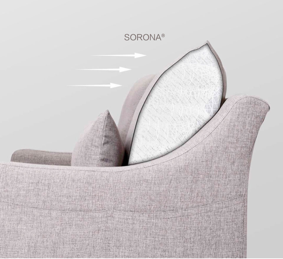8H American Simple Fabric Sofa наполнитель sorona