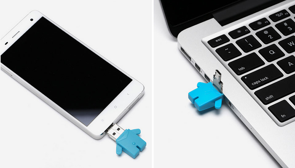Flash USB/Micro USB 16 GB Storage Mi Bunny Blue смартфон ноутбук