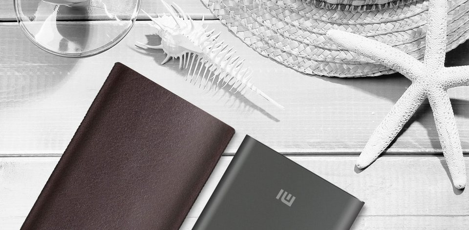 Brown case Xiaomi Power Bank 10000