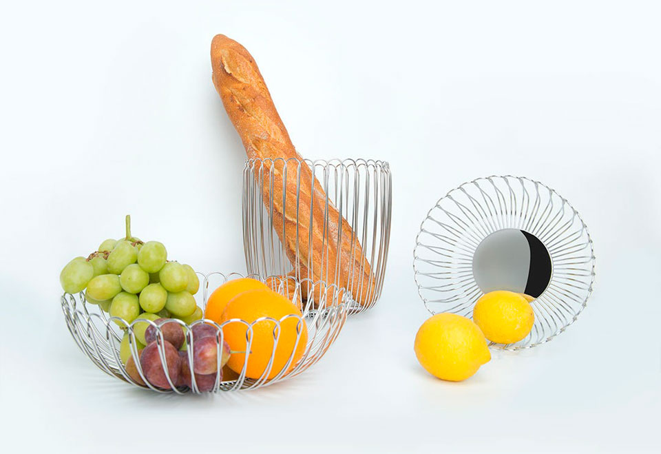 Maison Maxx Stainless Steel Woven Fruit  фруктовница