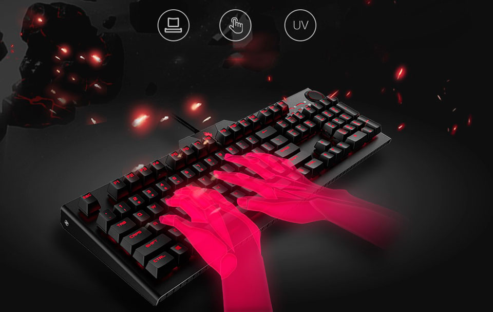 BLASOUL Professional Mechanical Gaming Keyboard USB Black Y520 отличная эргономика