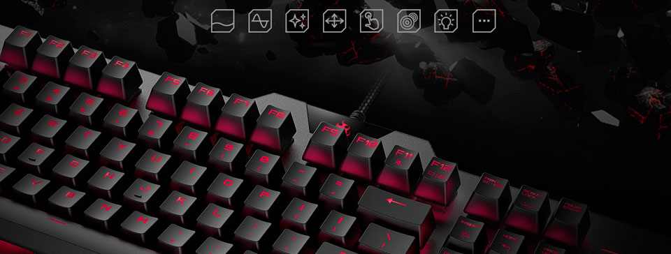 BLASOUL Professional Mechanical Gaming Keyboard USB Black Y520 универсальная