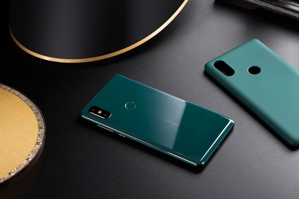 Mi Mix 2S Jade Art Edition Emerald Green красивый дизайн