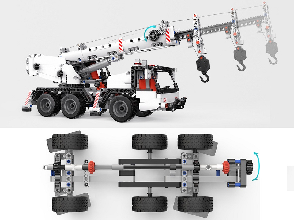 Конструктор MITU Building Block Engineering Crane MTJM03IQI управление машинкой