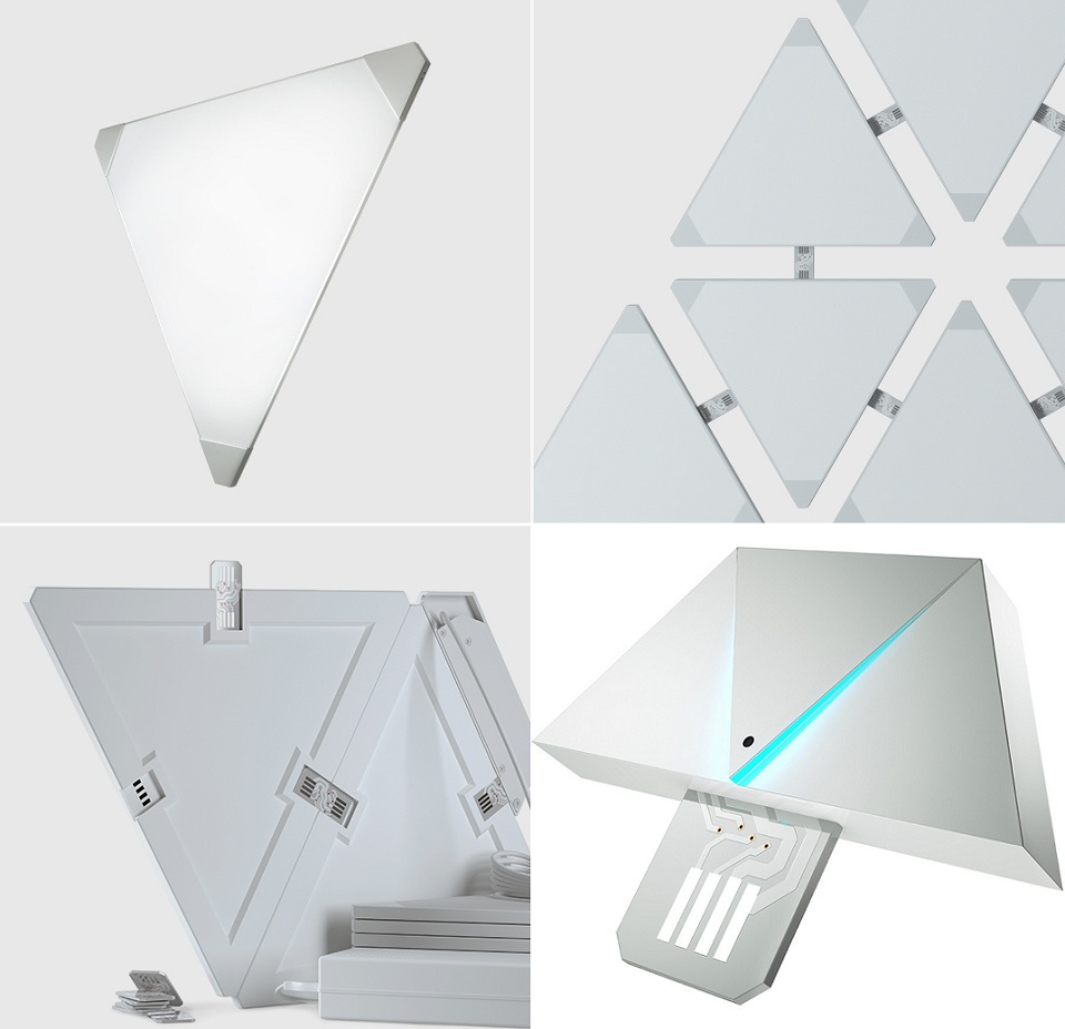 Светильник Nanoleaf Noble Smart Plate 4PK элементы дизайна