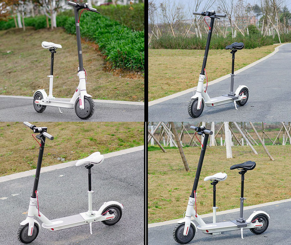 Сиденье для самоката Mi Electric Scooter в использовании