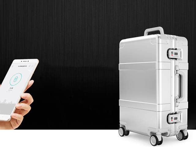 90 Points – Smart Metal Suitcase Silver Bluetooth замок
