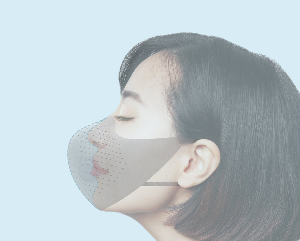 Xiaomi MiJia AirWear Anti-Fog Haze Mask фильтрация