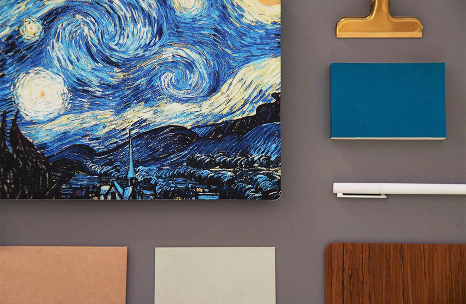 Наклейка Xiaomi Mi Notebook Air Sticker 12.5'' Starry Night by Van Gogh толщина