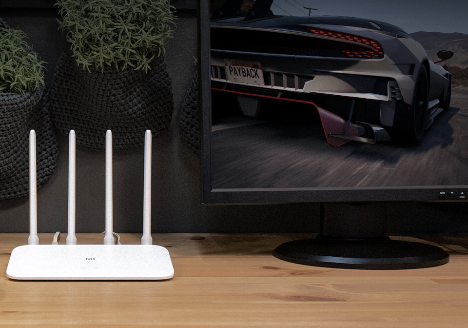 Роутер Xiaomi Mi WiFi Router 4A Gigabit Edition DVB4218CN в комнате