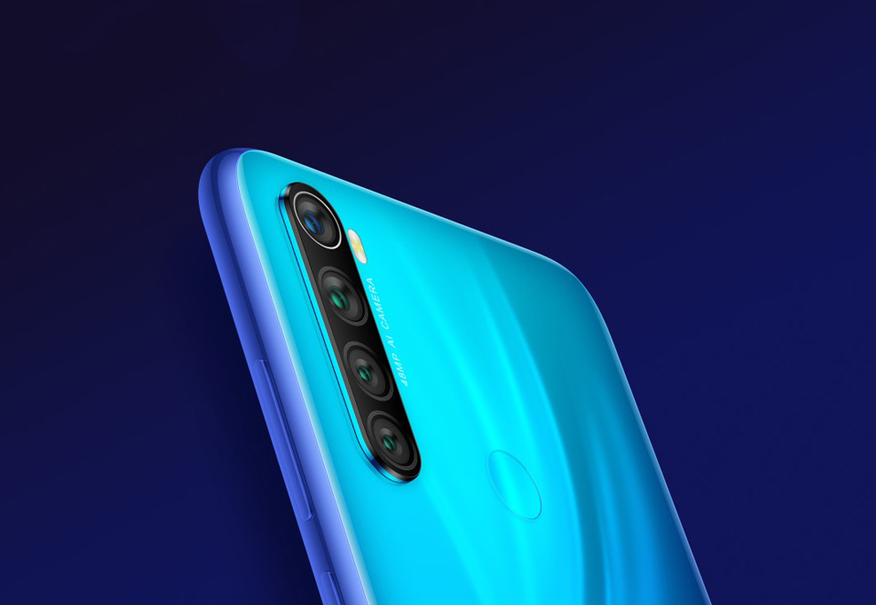 Смартфон Xiaomi Redmi Note 8  камеры на тыльной стороне
