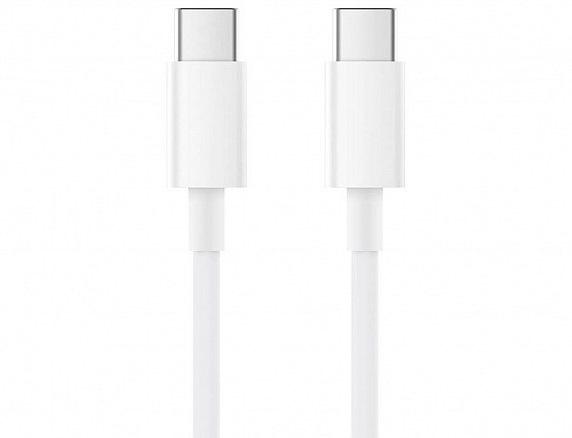 Кабель Xiaomi USB Type-C to USB Type-C Cable 1,5m White SJV4120CN/SJV4108GL крупным планом