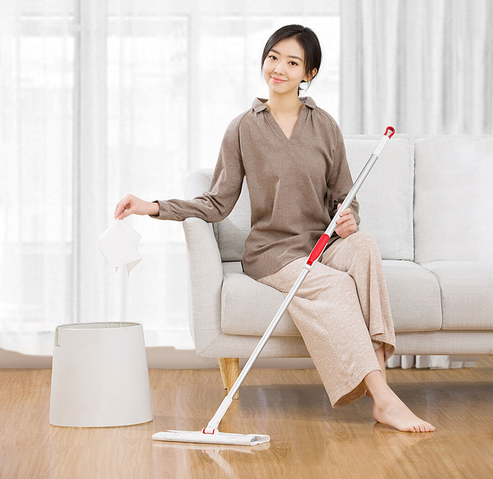 Швабра Yijie Non-Woven Disposable Mop YS-01 девушка и швабра