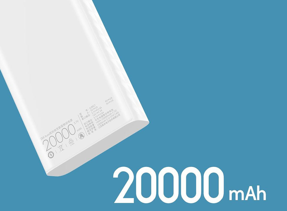 ZMi Powerbank Aura 20 000 mAh Type-C емкость